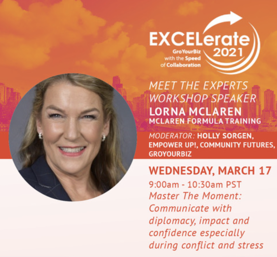 EXCELerate conference talk notice