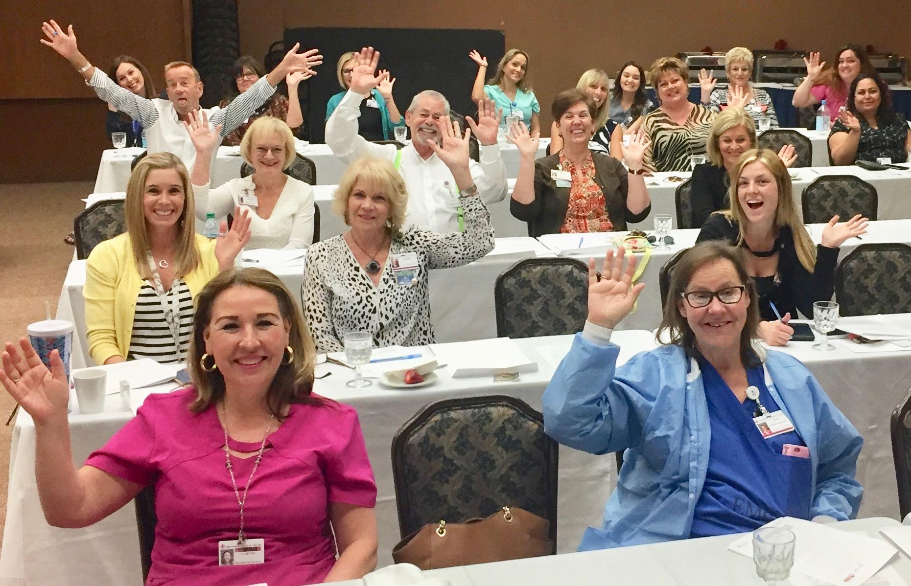 EMC group waving