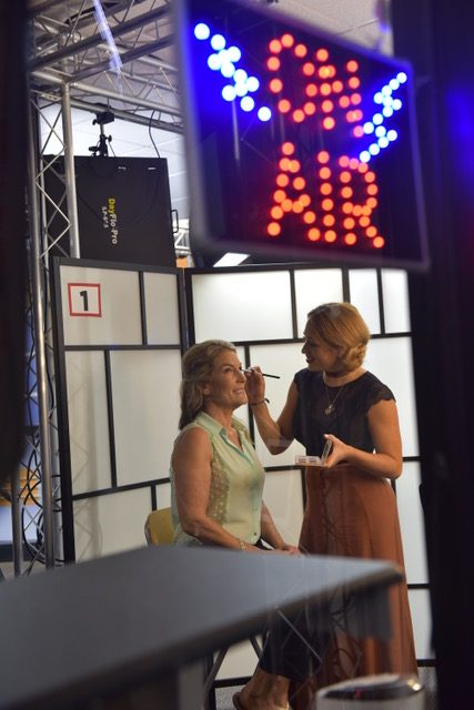 Getting make up on the air