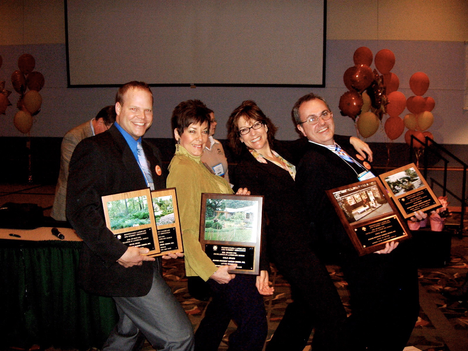 Four happy award winners